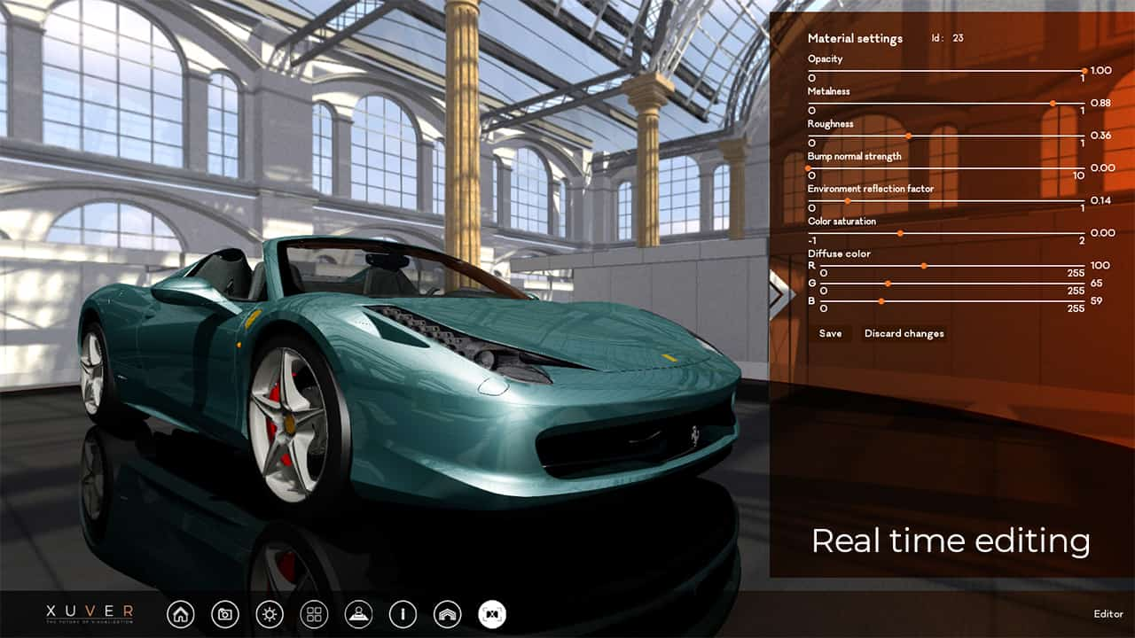 3d viewer with real time editing
